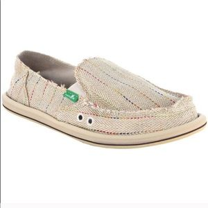 Sanuk Rainbow Donna Sidewalk Surfers Slip On Shoe